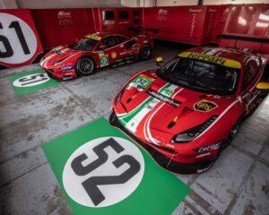 La livrea della Ferrari 488 GTE di AF Corse per il WEC 2021