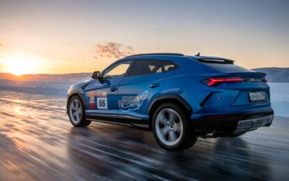 Record di velocità sul ghiaccio per la Lamborghini Urus