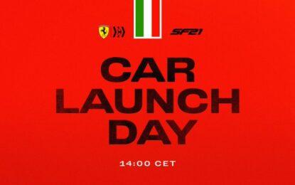 Ferrari SF21: alle 14.00 la presentazione