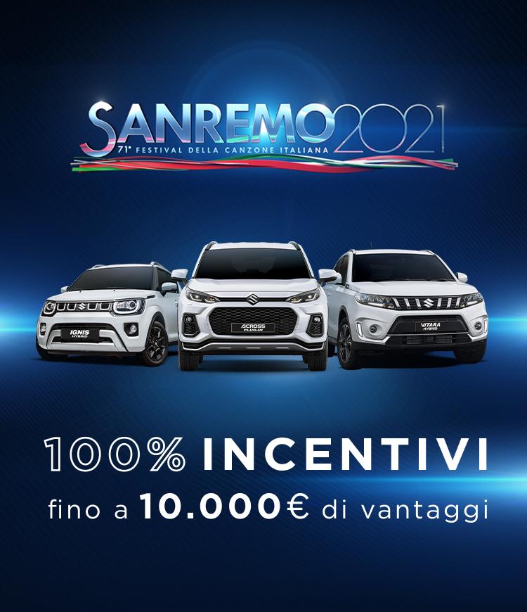 Tecnologia Suzuki Hybrid tra Festival di Sanremo e porte aperte