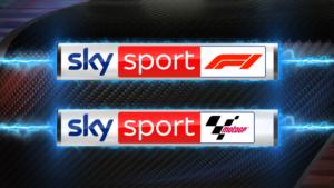 loghi Sky Sport F1 e Sky Sport MotoGP