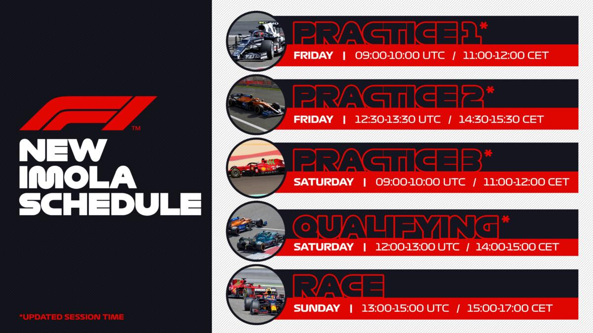 F1 e FIA confermano cambi d'orario per Imola