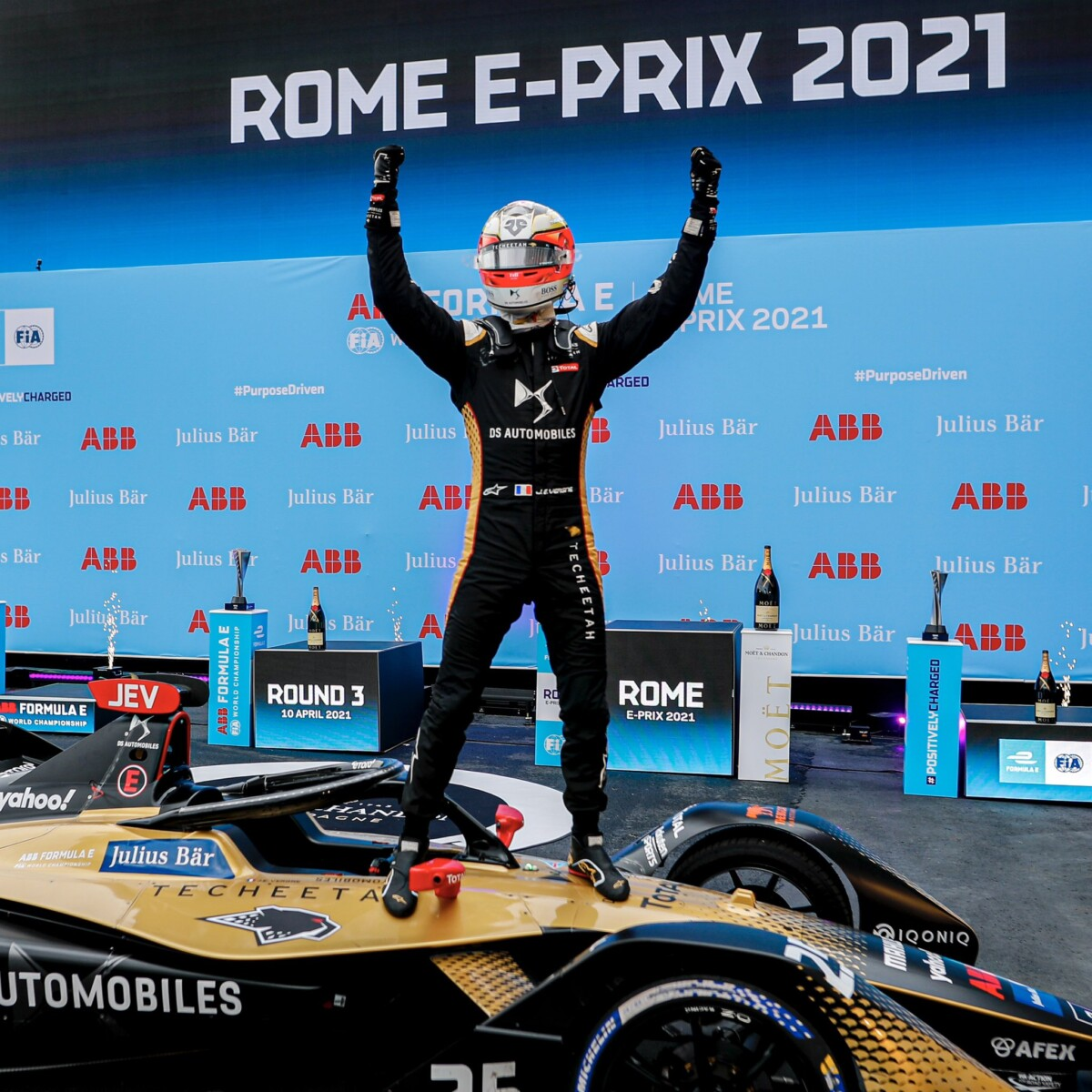 Formula E: a Roma Vergne e DS vincono davanti alle due Jaguar