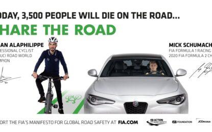 #3500LIVES: Mick Schumacher e Julian Alaphilippe per la sicurezza stradale