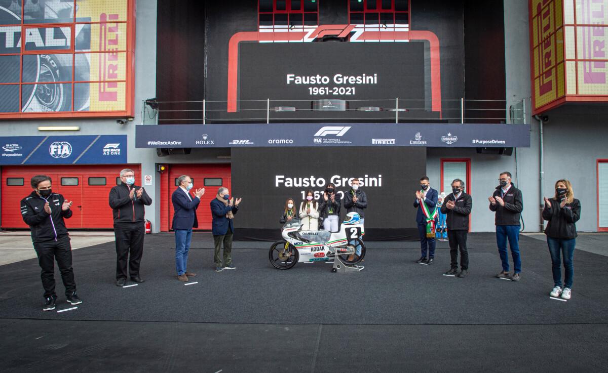 F1 e MotoGP: un abbraccio da Imola a Portimao per Fausto Gresini