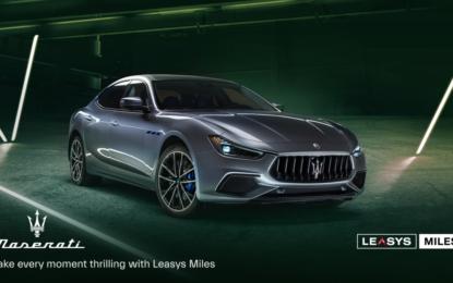 Leasys Miles Maserati: il noleggio incontra il lusso