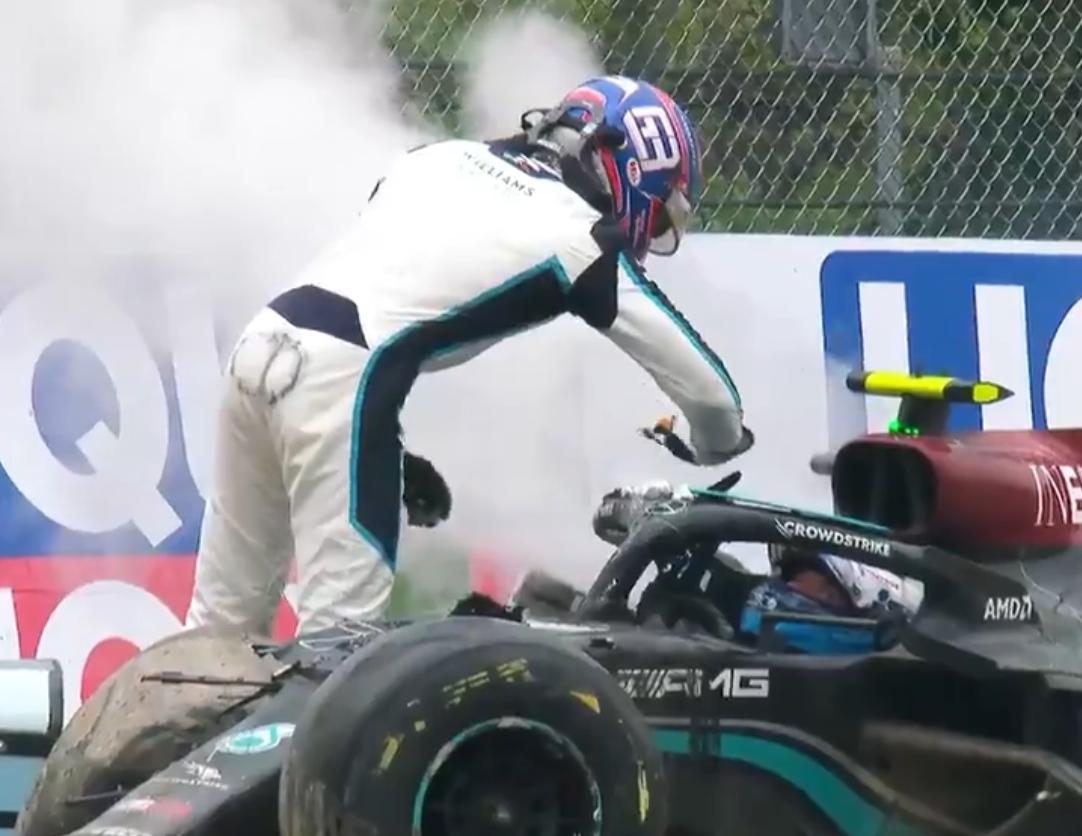 Russell vs Bottas: la reazione oltre l'incidente