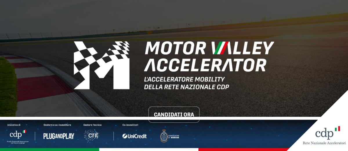 Motor Valley Accelerator: un'opportunità per le startup italiane