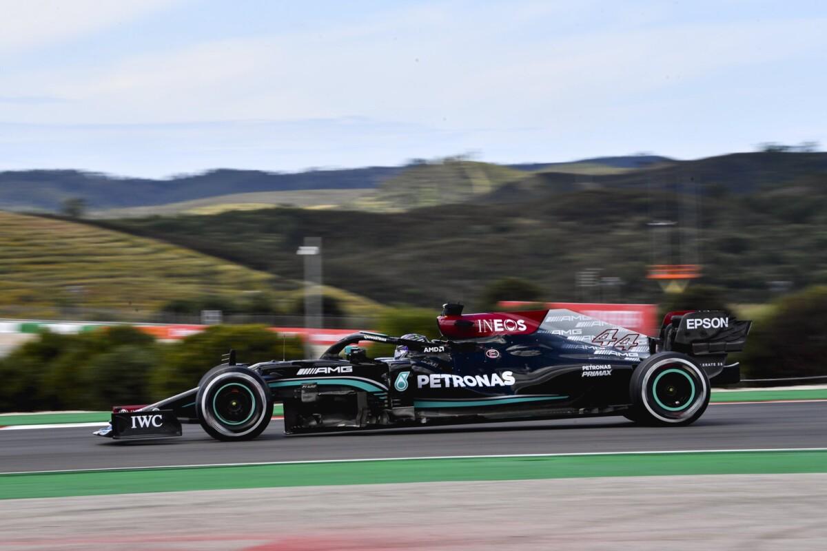 Nelle libere in Portogallo Hamilton-Verstappen. Ferrari 4° e 7°