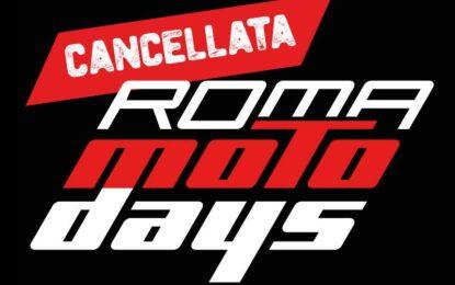 Roma Motodays cancellata e rinviata a marzo 2022