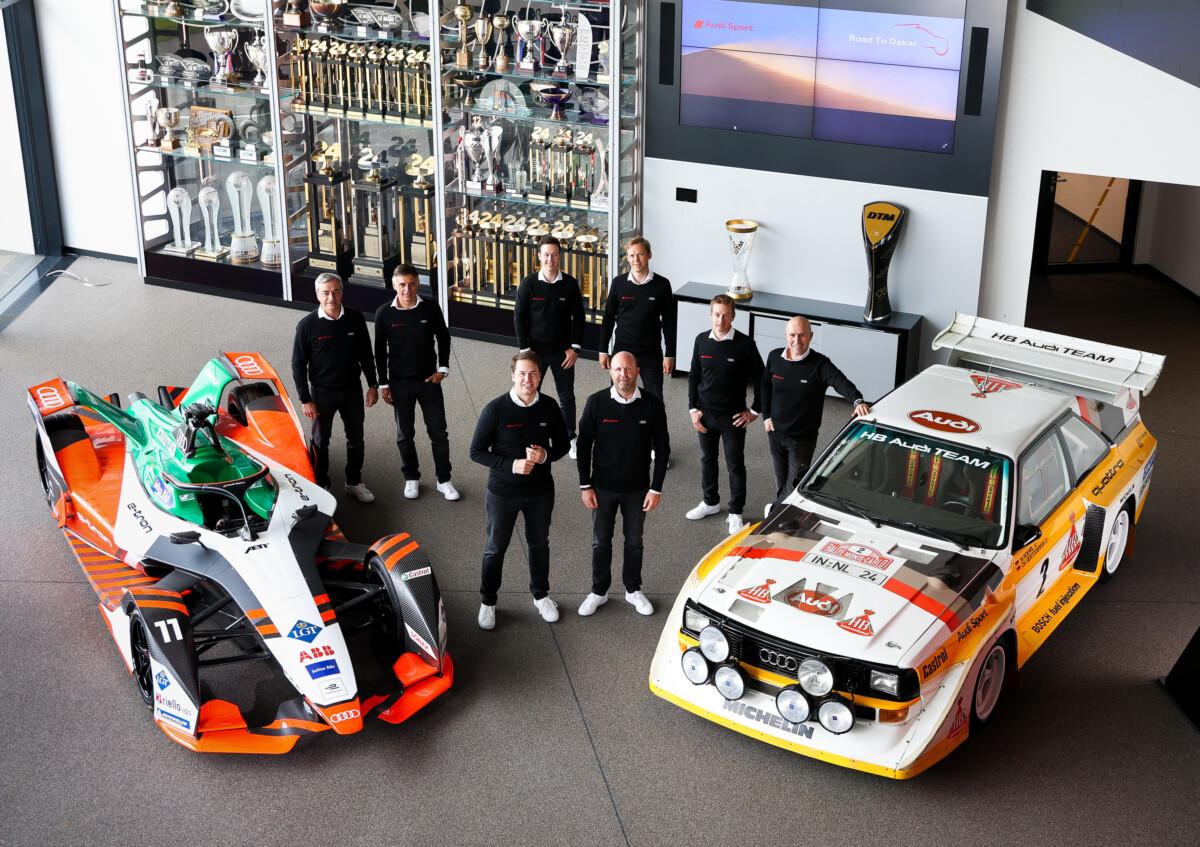Audi alla Dakar 2022 con tre equipaggi da record