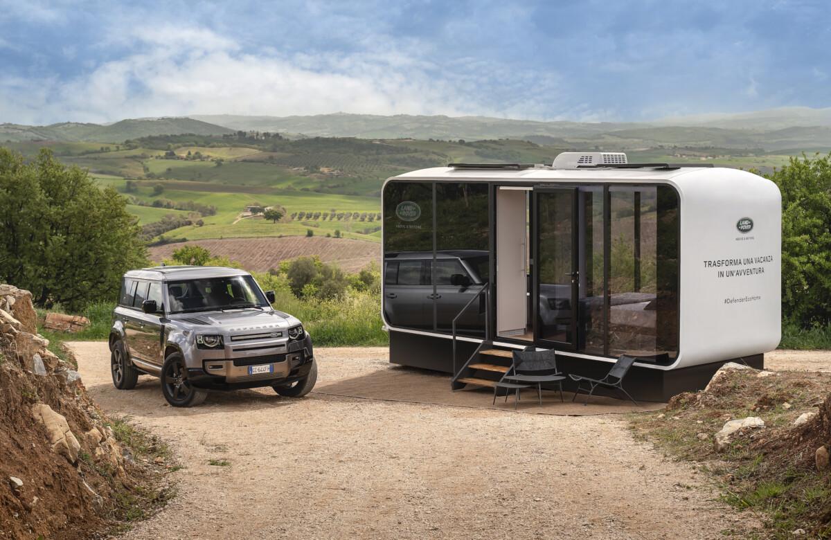 Land Rover e Airbnb presentano Defender Eco Home