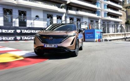 Nissan Ariya debutta sulle strade del circuito di Monaco