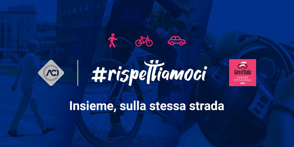 ACI: al Giro d'Italia la campagna #rispettiamoci per la sicurezza stradale