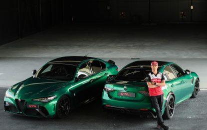 A Balocco Kimi Raikkonen certifica Giulia GTA