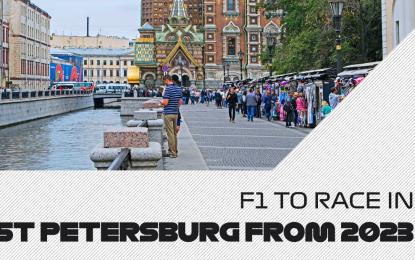 Dal 2023 il GP di Russia a San Pietroburgo