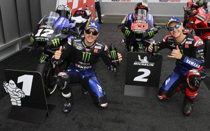 Yamaha domina le qualifiche ad Assen, Bagnaia terzo