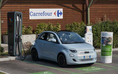 """Da Fiat, Carrefour Italia e Be Charge nasce """"Shop & Charge"""""""
