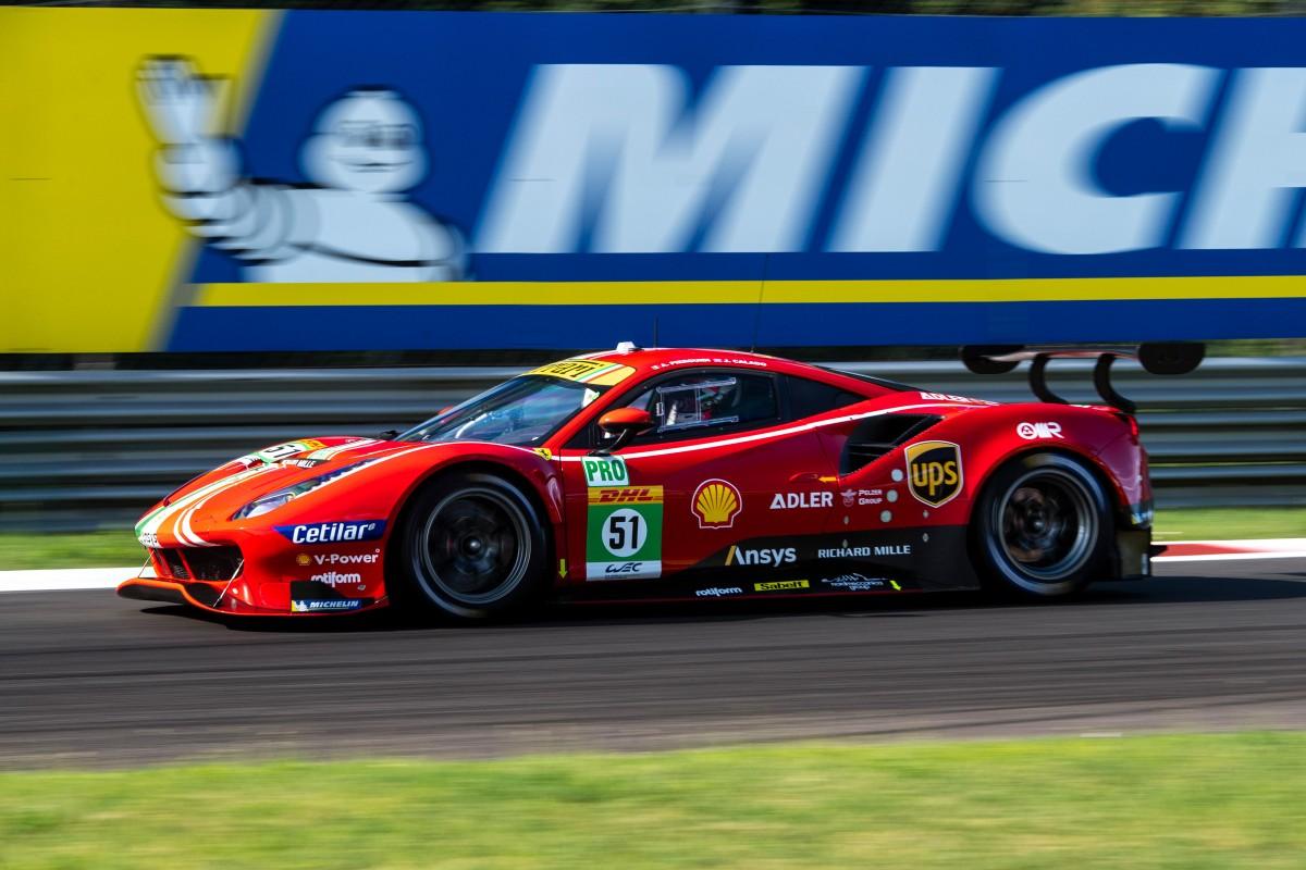 WEC: doppia prima fila Ferrari a Monza