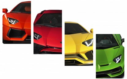 Lamborghini Aventador: 10 innovazioni in 10 anni di storia