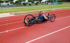 Il paraciclista Manolo Simeoni