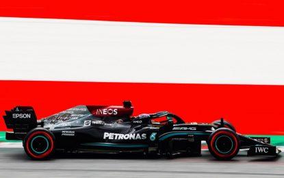 Le Mercedes tornano davanti alla Red Bull nelle libere in Austria