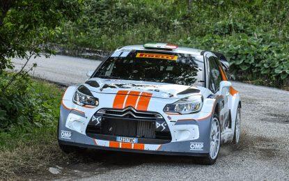 Pedersoli e la Citroen DS3 WRC in testa al Rally della Marca